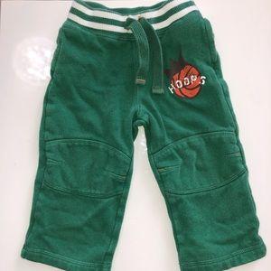 🌈 Green Toddler Boy Hoops Sweatpants Joggers EUC
